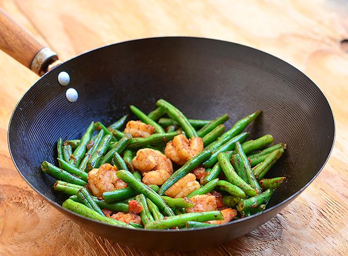 Green Bean and Shrimp Stir-fry