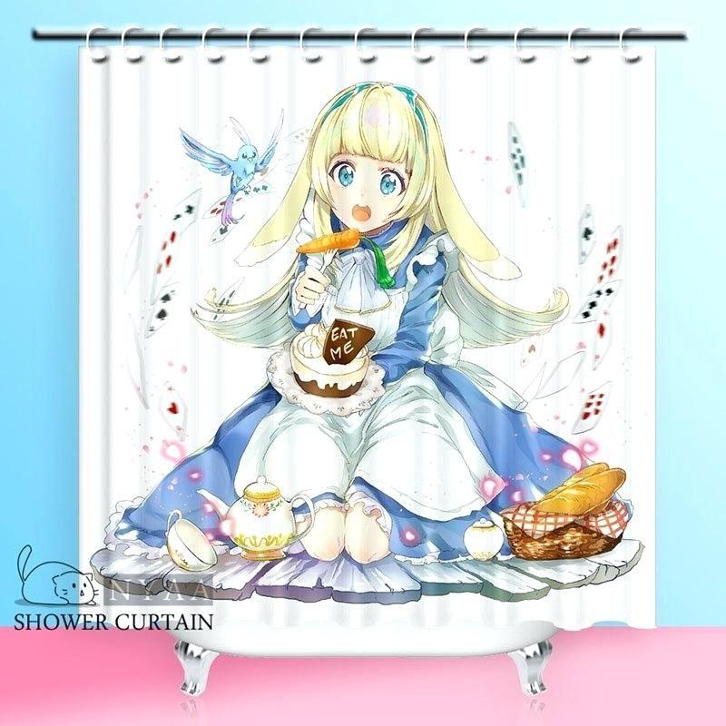 Alice In Wonderland Curtains In Wonderland Shower Curtains Series