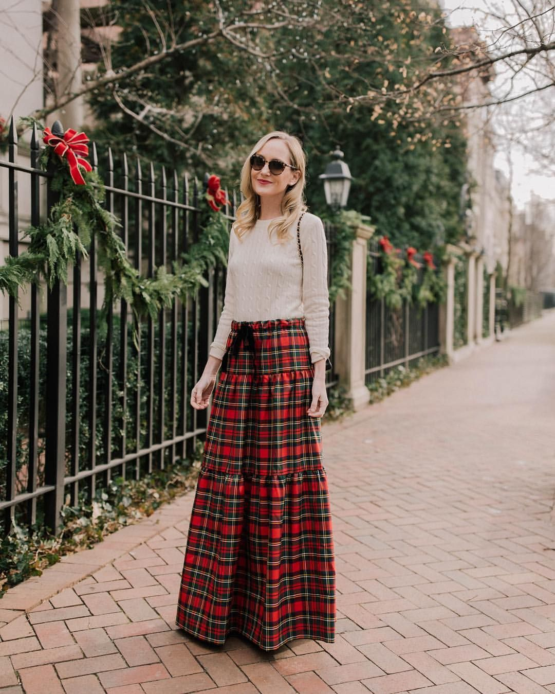Tartan Love Flared Maxi Dress