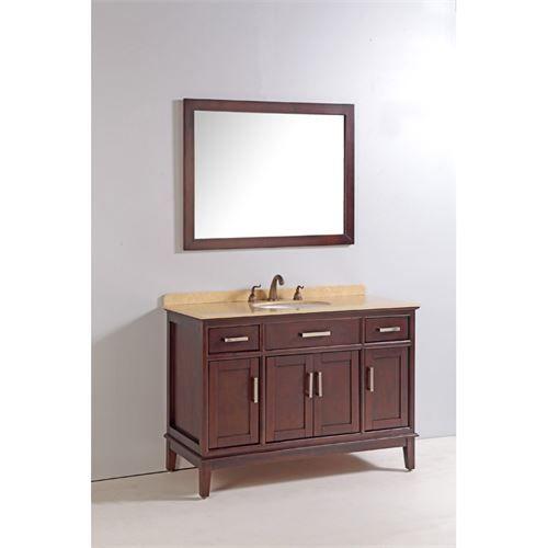 Vanity Art WA5148 48 Solid Wood Sink Vanity with Mirror and Faucet