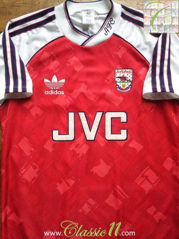6c9a32163 Relive Arsenal s 1990 1991 season with this vintage Adidas home football  shirt.
