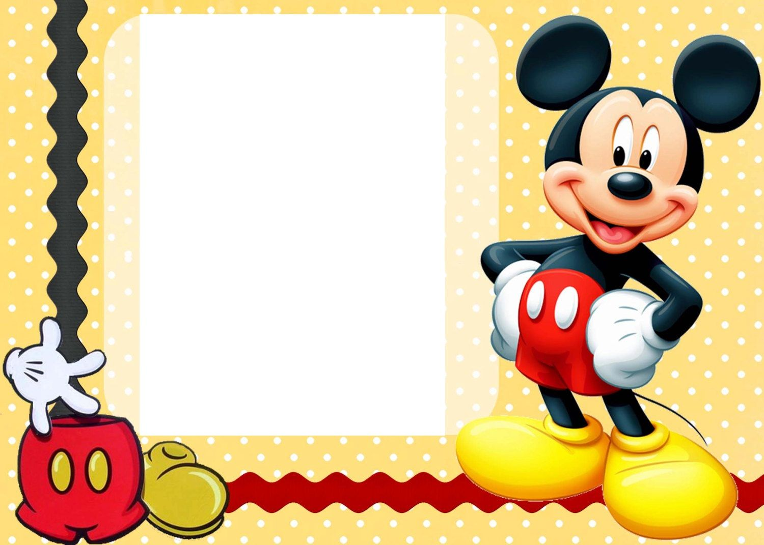 Mickey Mouse Printable Invitation Cards Party Time