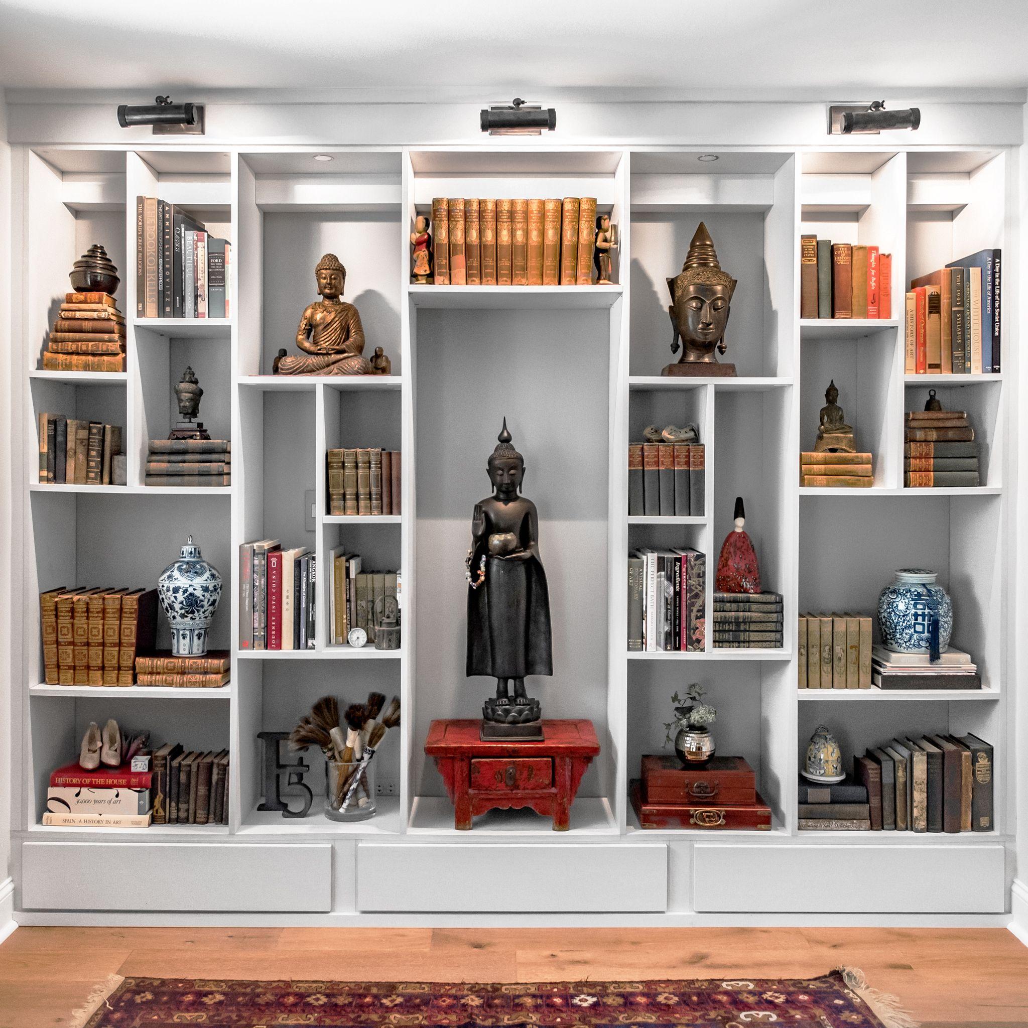 Feng Shui Organization Built In Bookcase Wall Shelf Unit Bookcase