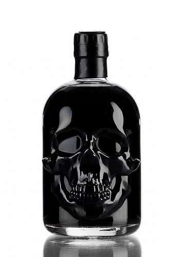 Absinthe Black Head 55 50cl Skull Decor Bottle Skull