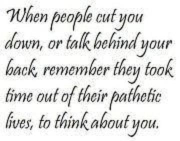 Don't let people put you down!