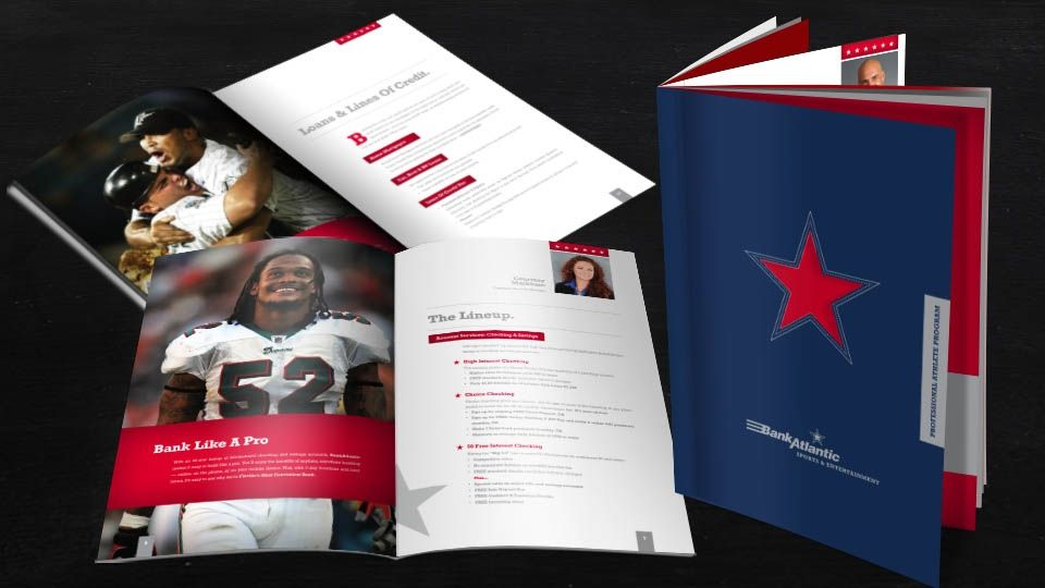 Professional Athlete Program Booklet Design For Client