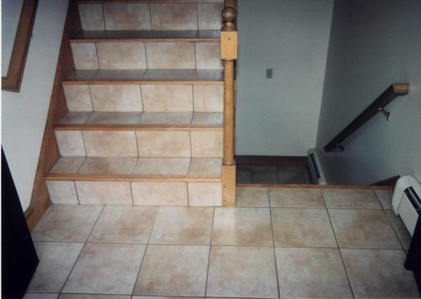 Tile Edging With Oak