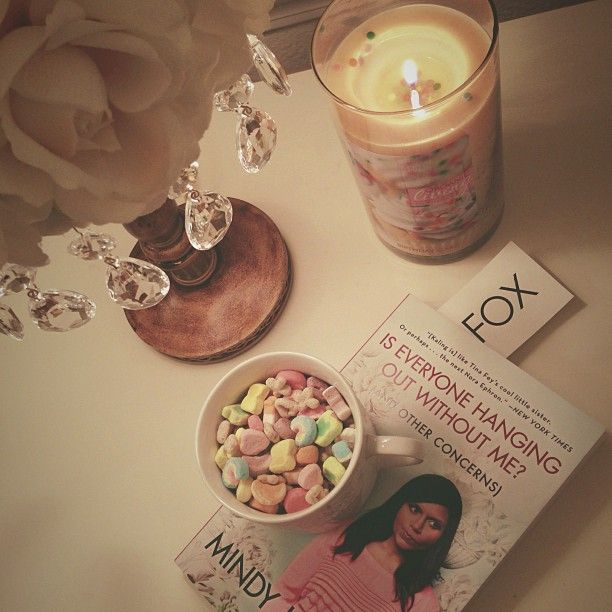 Mindy Kaling and Lucky Charms