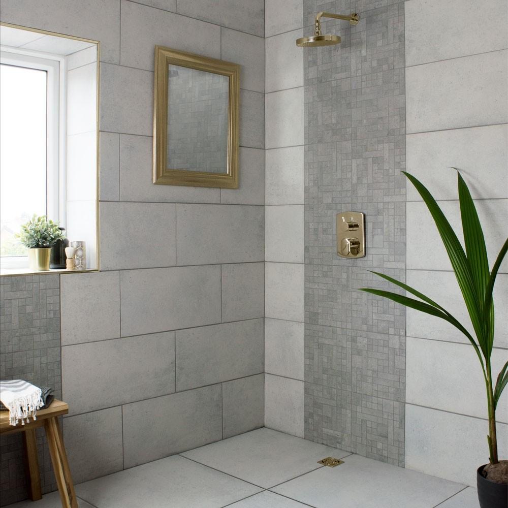 Noroke Morning Grey 60x30 Tiles In 2020 Large Tile Bathroom Tile Bathroom Large Shower Tile