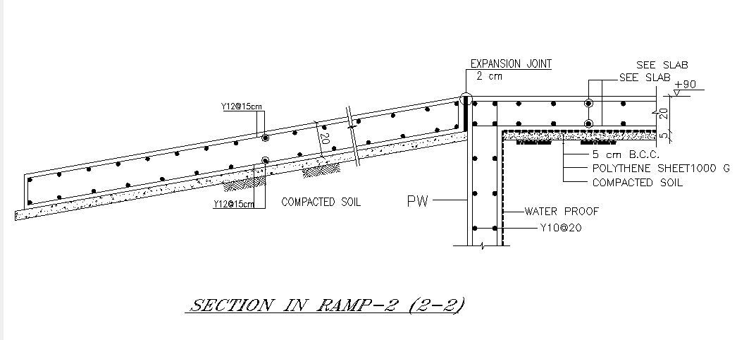 ramp structural system , ramp steel reinforcement , ramp