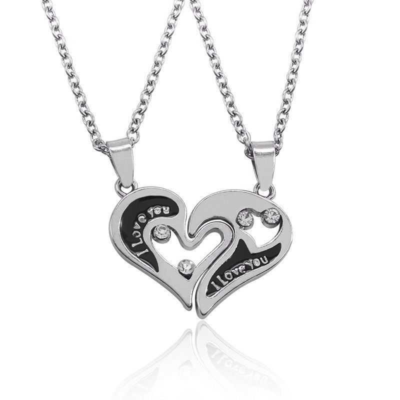 2016 New Design I Love You Heart Shape Pendant Necklaces 2 Parts ...