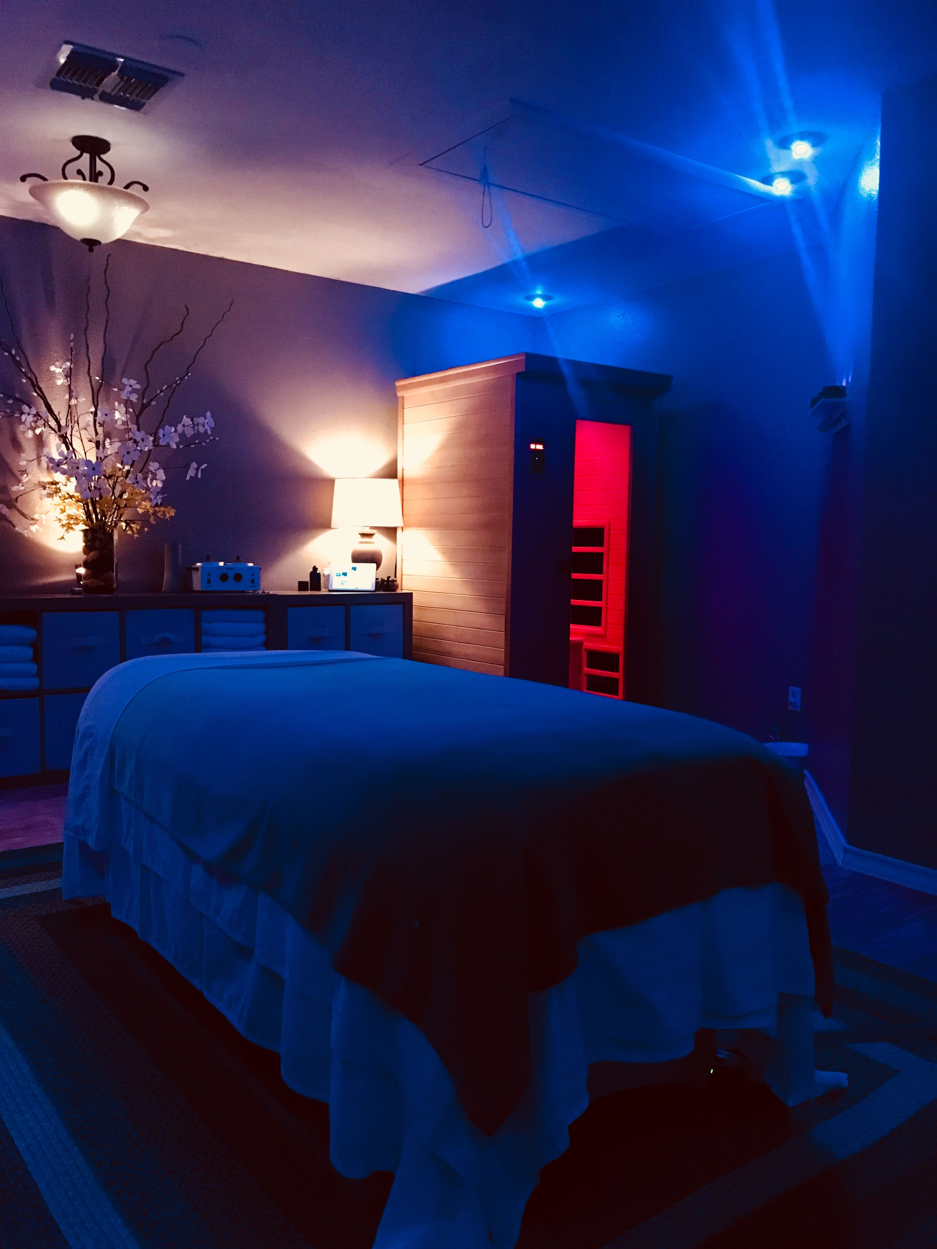 Elements Of Touch Therapeutic Spa Massage Room Light Therapy Infrared Sauna Spa Massage Room Infrared Sauna Massage Room