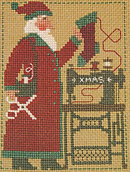 2006 Schooler Santa - Cross Stitch Pattern | Cross stitch | Santa