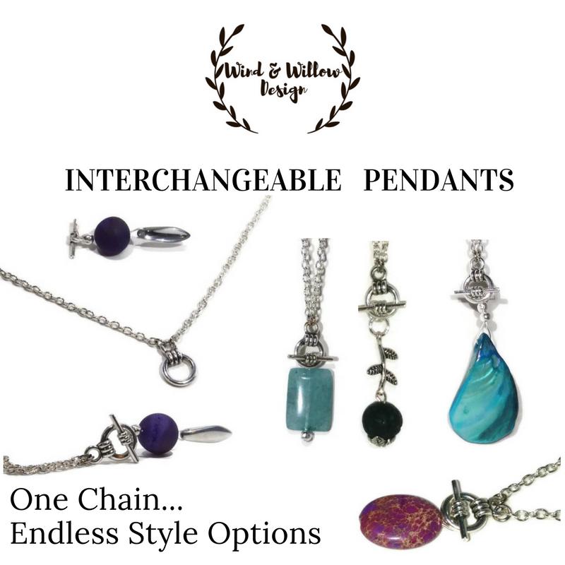 Interchangeable pendant necklace set pendant set detachable interchangeable pendant necklace set pendant set detachable pendants interchangeable pendants jewelry gift aloadofball Images