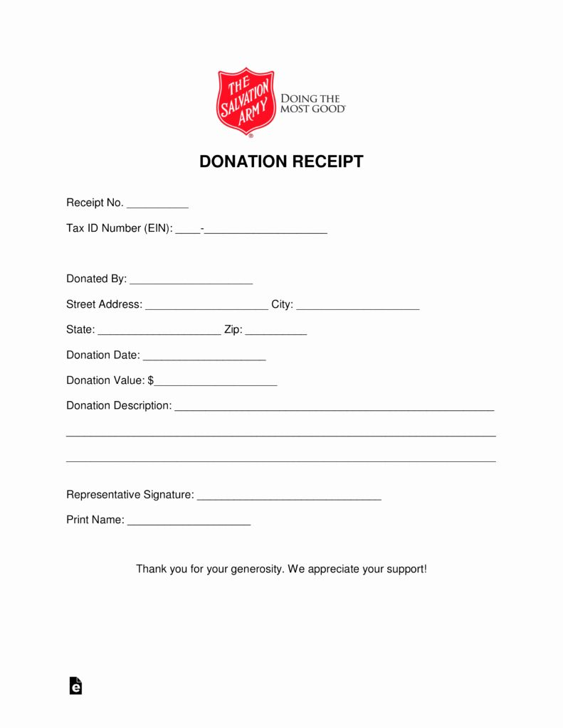Donation Form Template Pdf Inspirational Free Salvation Army Donation Receipt Pdf Word Receipt Template Donation Form Receipt