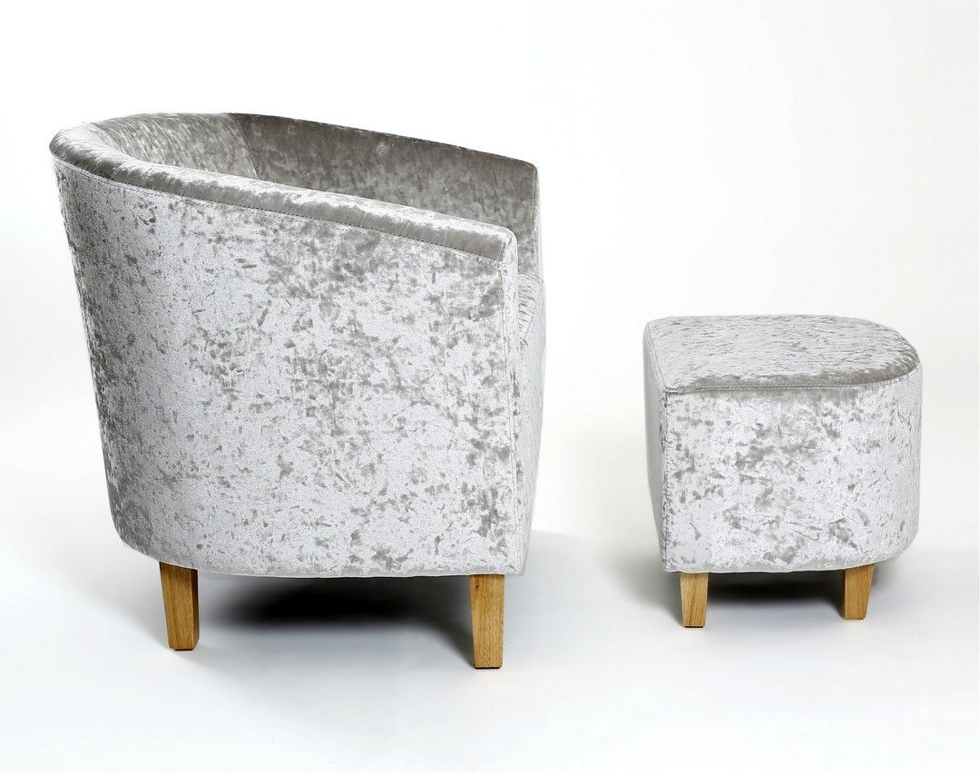 http://www.bonsoni.com/turin-silver-crushed-velvet-tub-chair-set-by-sherman  Turin Silver Crushed Velvet Tub Chair Set by Sherman is Our classic Tub chair and matching stool is now available with the romance and allure of a sumptuous crushed velvet fabric.  http://www.bonsoni.com/turin-silver-crushed-velvet-tub-chair-set-by-sherman