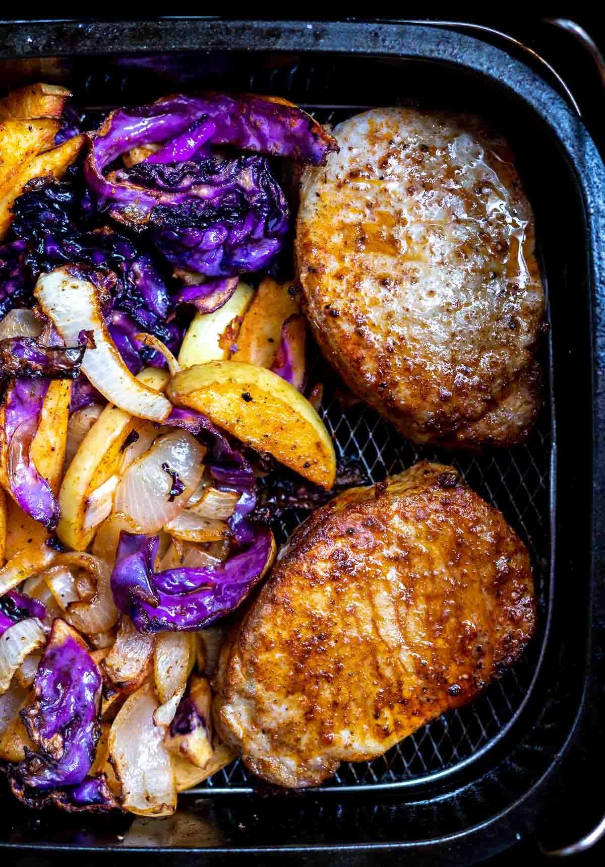 Air Fryer Pork Chops With Apples Recipe Air fryer