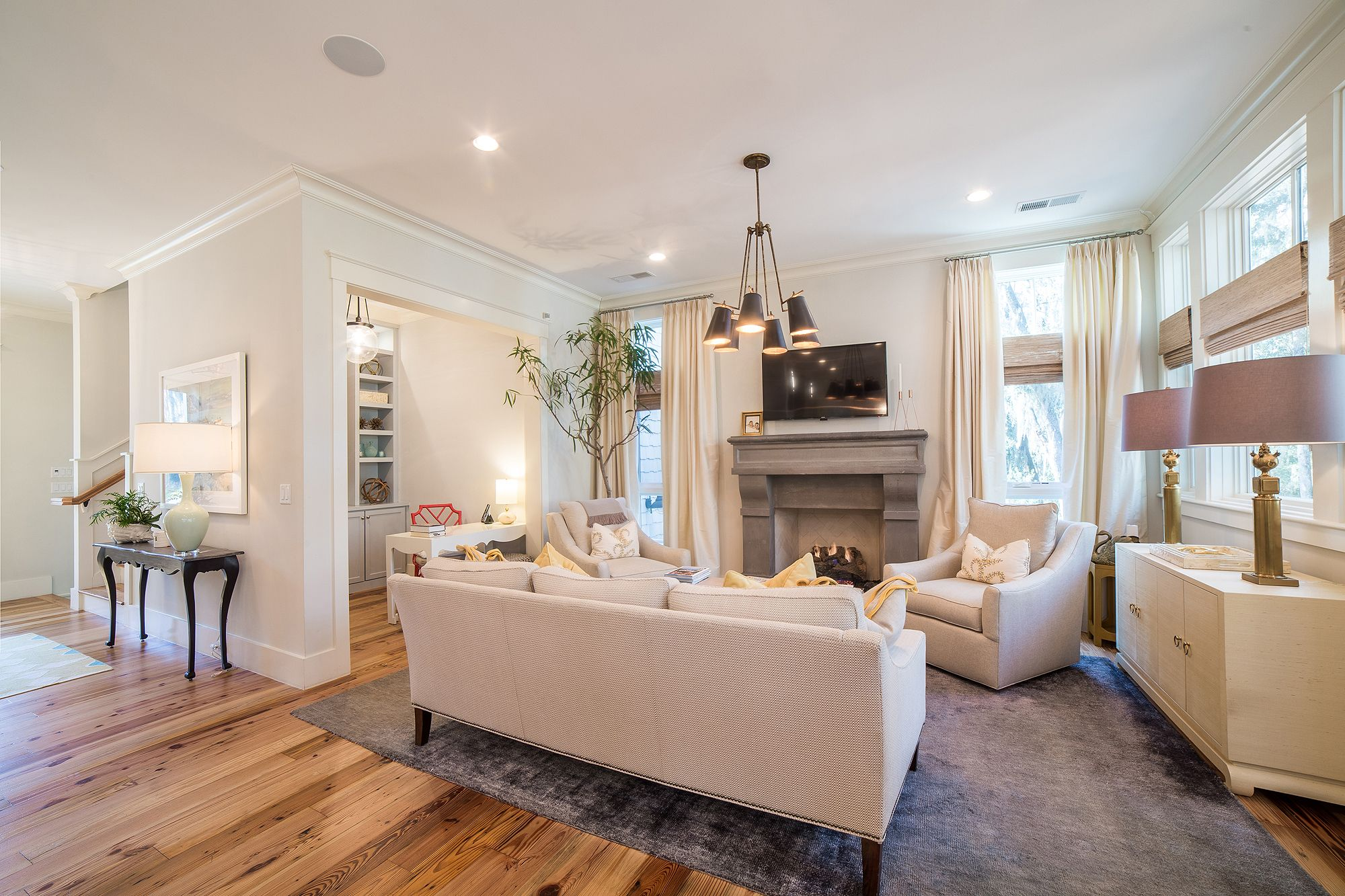 Neutral Tone Living Room Inspiration Southern Style Interior Design Ideas Vacation Real Estate Bluffton South Carolina