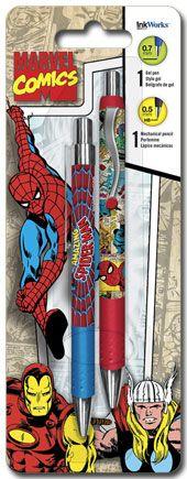 Spider-Man - Gel Pen Mechanical Pencil Combo - 2pk