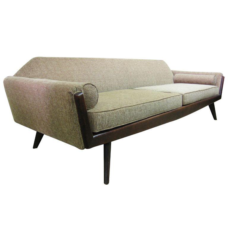 Awesome Mid Century Adrian Pearsall Gondola Style Sofa C 1955