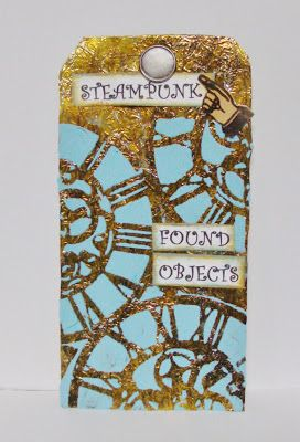 """I added """"Tee"""" to an #inlinkz linkup!http://thealteredpaper.blogspot.com/2016/04/adhered-large-tag-with-aluminum-foil.html"""
