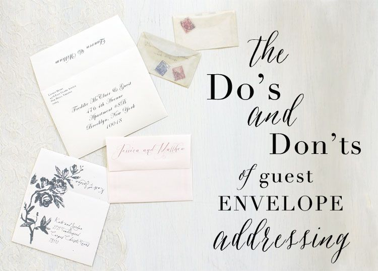How To Address Your Wedding Invites Addressing Wedding