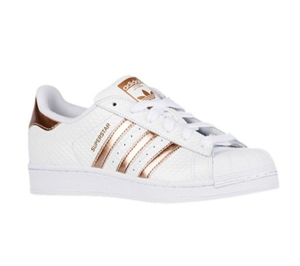 new Cheap Adidas originals superstar #80s rose gold metal toe cap sneakers