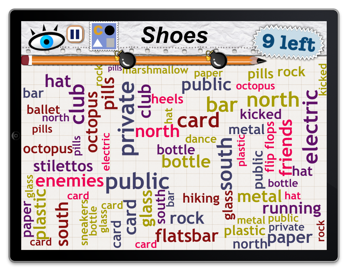 Word Mess Find 9 types of shoes! Words, Word games, Mess