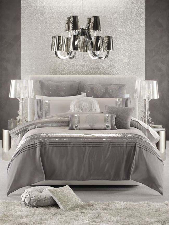 15 Glamour Silver Bedroom Designs Silver Bedroom Silver Bedroom