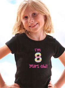 Girls Birthday Age T Shirt
