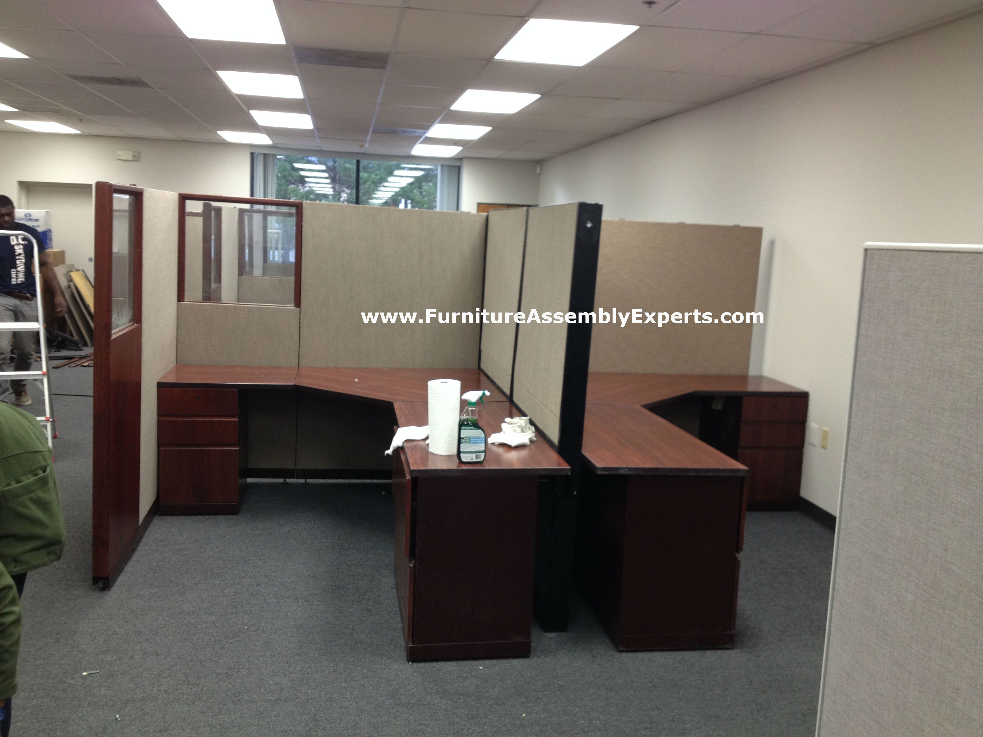 used office cubicles assembled in anne arundel county MD by Furniture Assembly Experts LLC