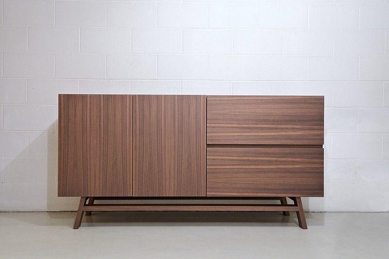 Credenza Moderna Noce Canaletto : Credenza in noce canaletto o rovere modello giada furniture