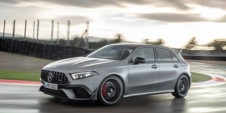 The New 2020 Mercedes Amg A 45 4matic W 177 In Designo Mountain
