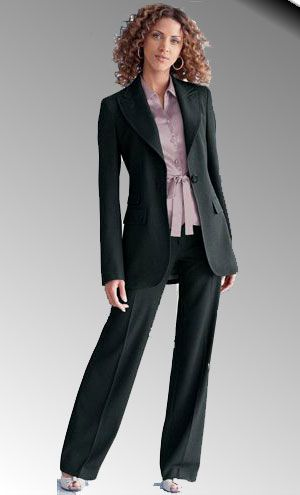 I like the slightly fuller trousers with the longer jacket. They ...