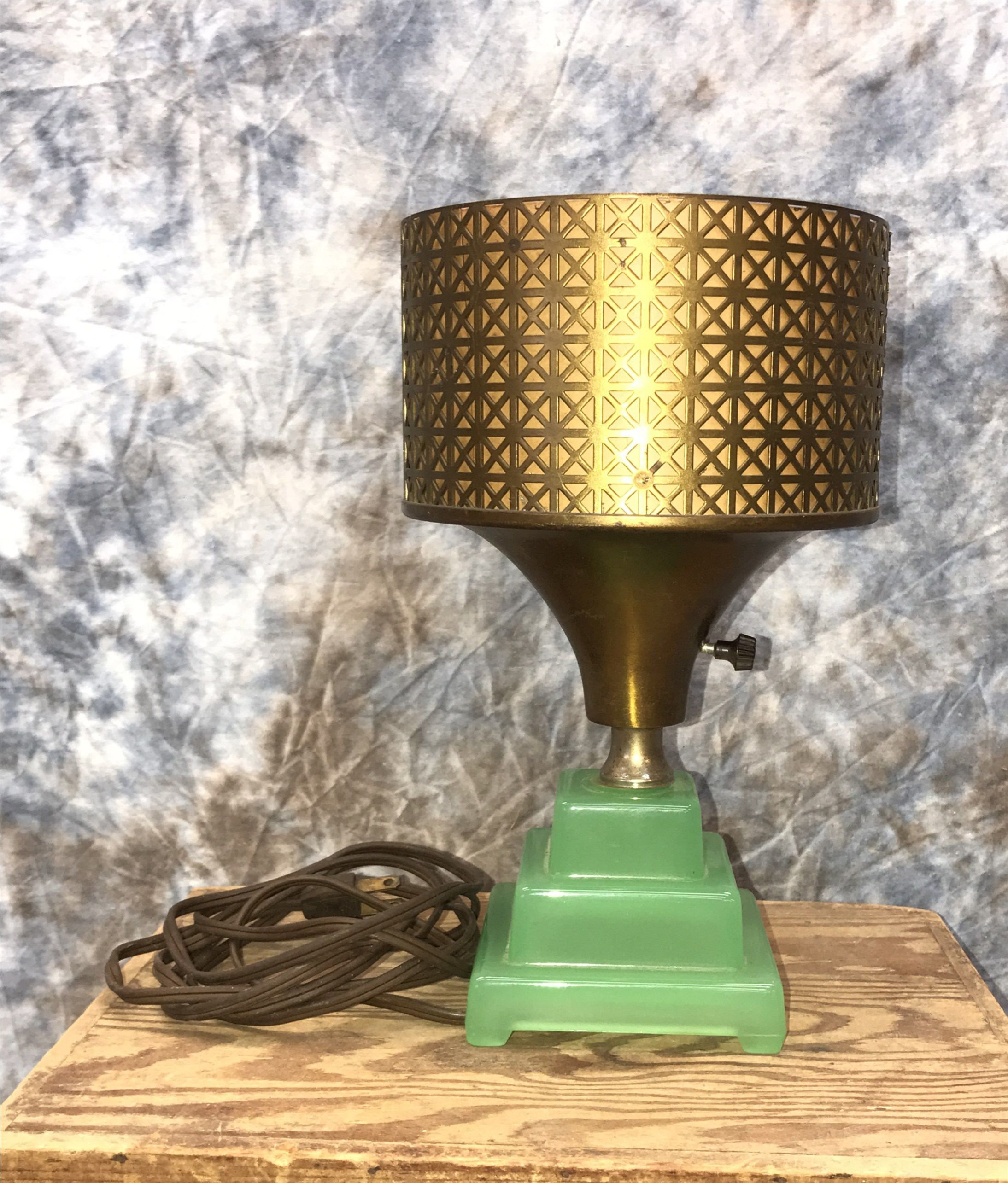Jadeite Torchiere Desk Table Top Lamp