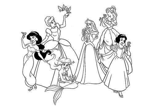 Princesas Disney: dibujos para colorear | dibujos para colorear ...