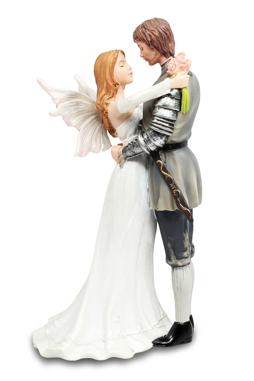 Fantasy Fairy Gothic Knight Wedding Cake Topper | Pinterest ...