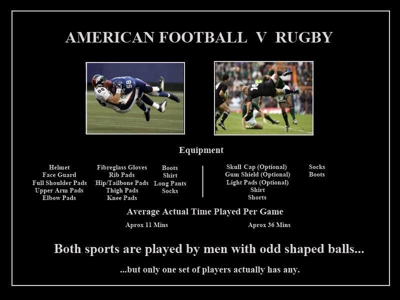 Rugby vs. Football | Rugby | Pinterest | Rugby and Rugby rules