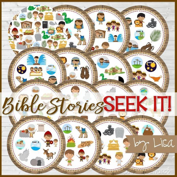 Photo of ¡Búscalo! {Bible Stories Edition} juego de combinar para imprimir