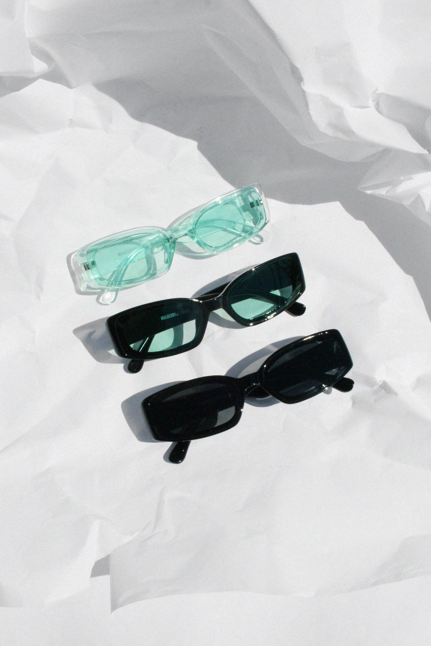 Mulberry and Grand Retro Poolside Sunglasses in Mint & Black