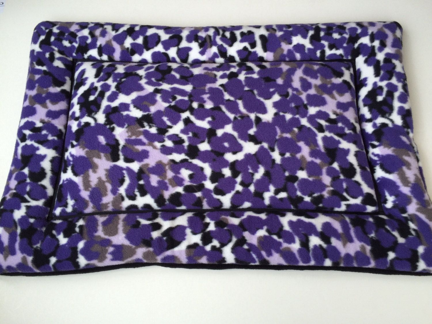 Purple Pet Bed, Dog Crate Pad, Puppy Bedding, Kennel Mat