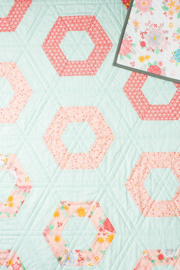 All The Baby Quilts Hexie Rows Baby Quilt Wrap Up In This