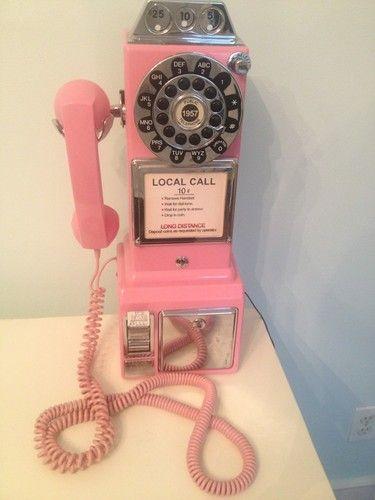 Crosley Pay Phone Pink Ebay Phone Pay Phone Landline Phone