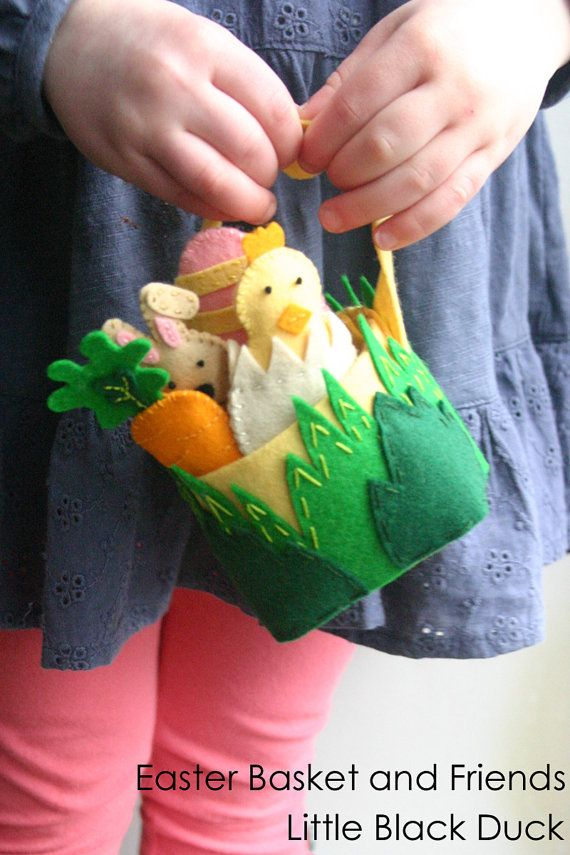 Easter basket and friends do it yourself kit wool felt kit for easter basket and friends do it yourself kit wool felt kit for making an easter solutioingenieria Gallery