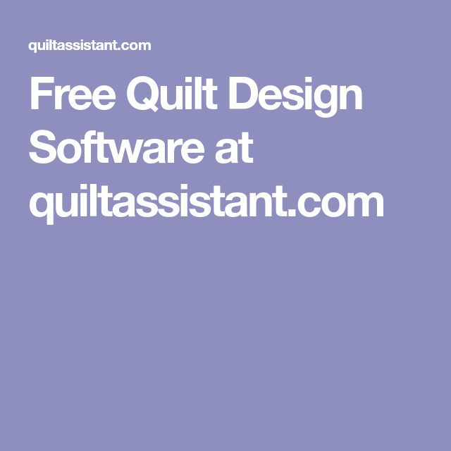 Free Quilt Design Software at quiltassistant.com ...Quilt Drawing Program