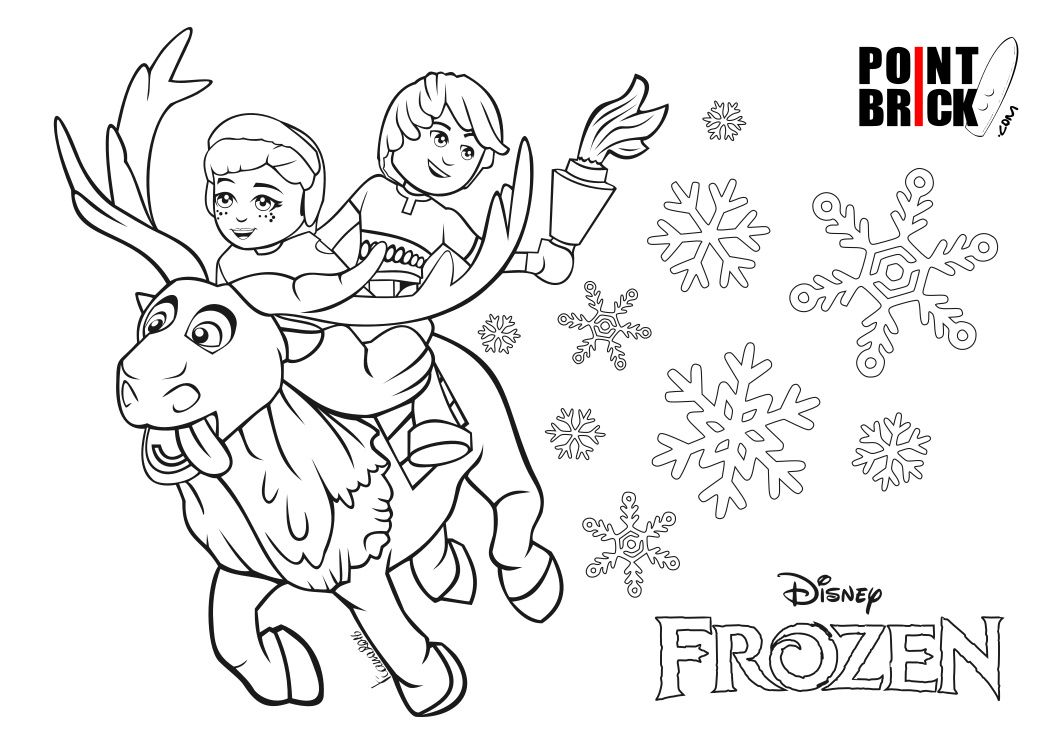 Coloring Pages Lego Frozen : Disegni da colorare lego disney princess frozen anna