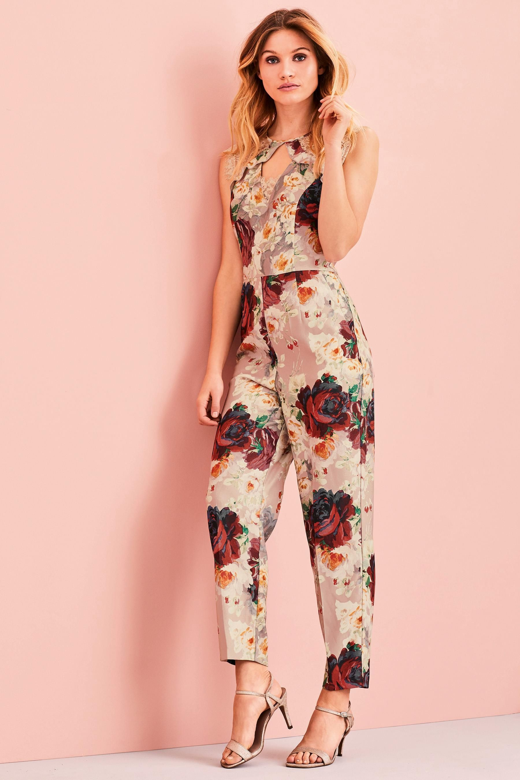 Buy Print Lace Insert Jumpsuit from the Next UK online shop   Next ...