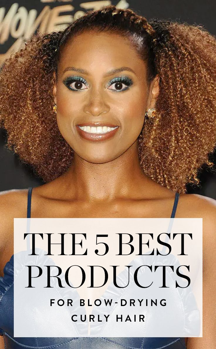 The 5 Best Products for Blow-Drying Curly Hair | Dry curly ...