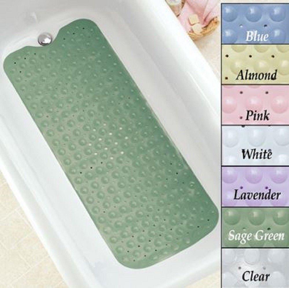 Bath Mat Extra Long Slip Resistant Cushioned Bathtub Mat Skid