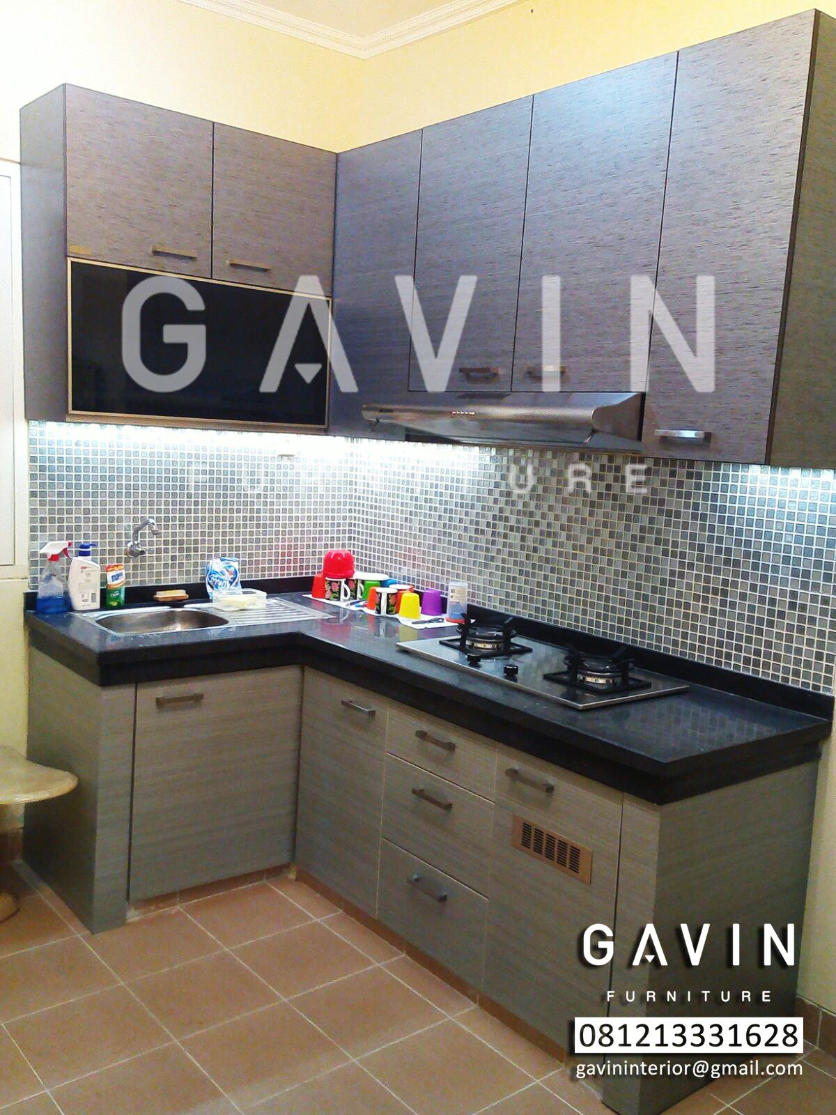 Kitchen set minimalis by gavin furniture kitchen set for Harga paket kitchen set minimalis